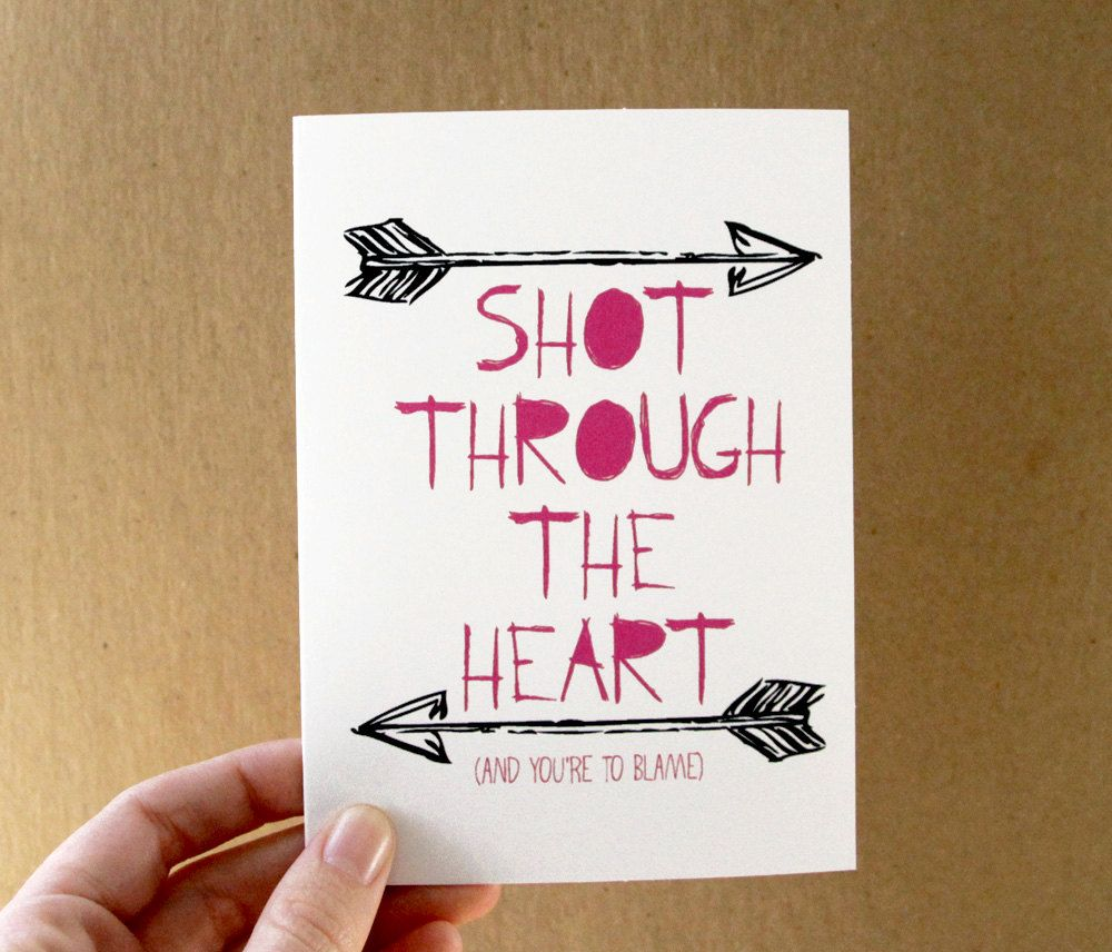 love card shot through the heart bon jovi quote card mini – Bon Jovi Birthday Card