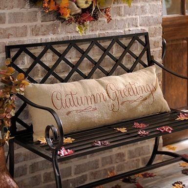 American Flag Bench Pillow Burlap Pillows Fall Home Decor Fall Pillows