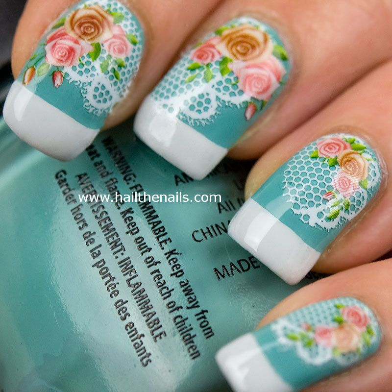 Vintage rose lace nail art water transfer decal by hailthenails vintage rose lace nail art water transfer decal by hailthenails prinsesfo Gallery