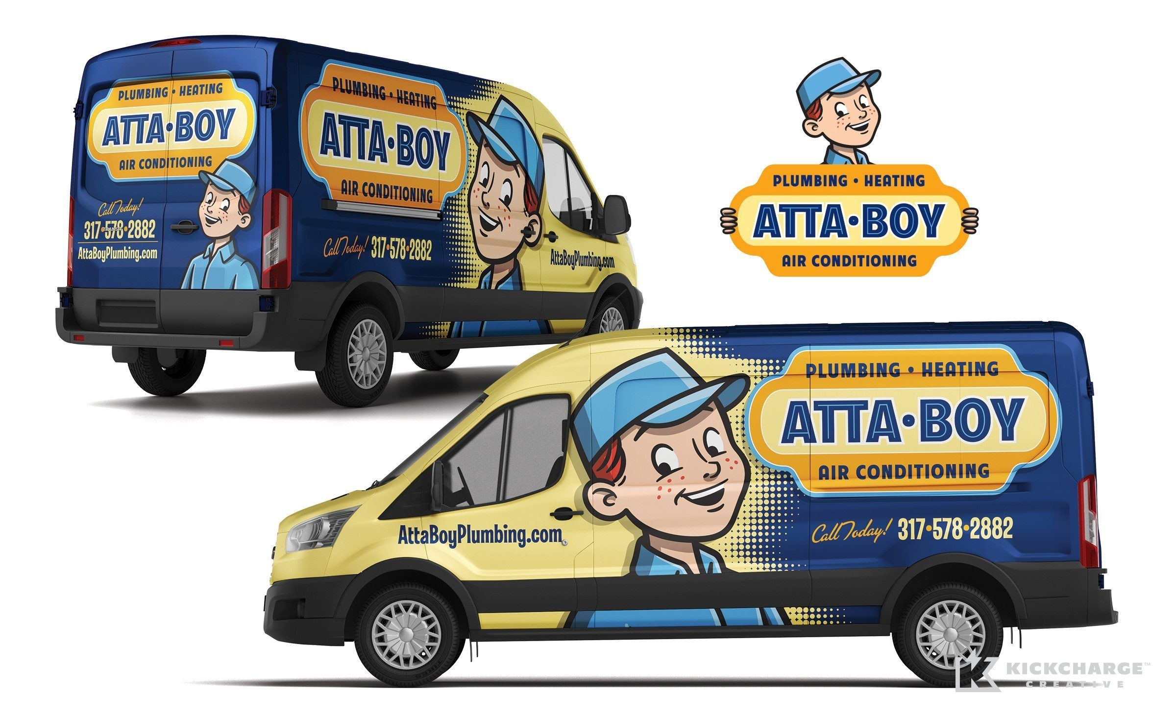 Attaboy Plumbing Kickcharge Creative Car Wrap Design Cool