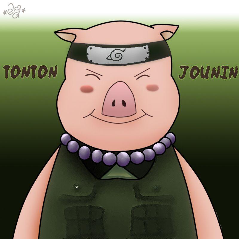 Tonton, even the pig becomes chunin before Naruto  | Naruto
