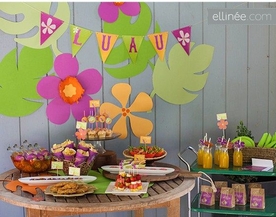 blog my little party ideas e inspiracin para fiestas fiestas temticas hawaianas