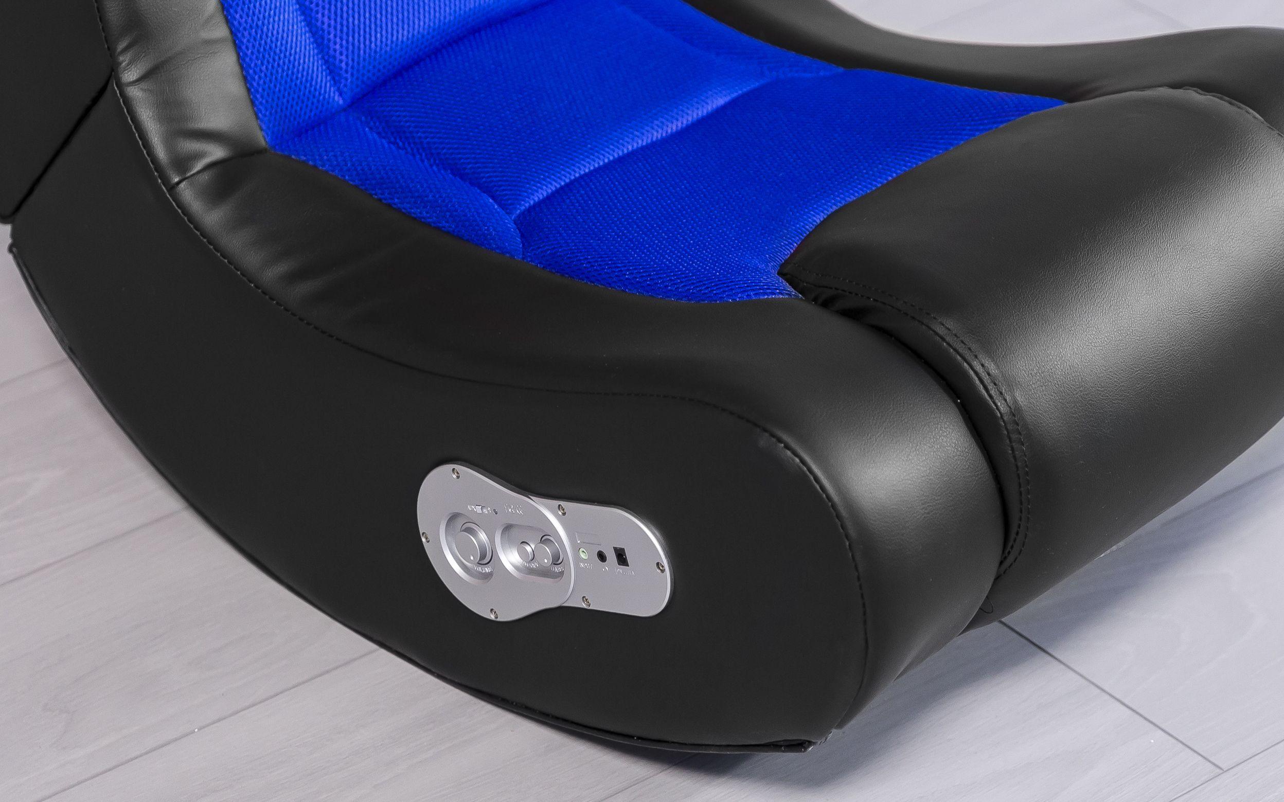 Wohnling Booster Soundchair Blau Mit Bluetooth Wl8 009 Aus