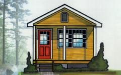 Easy To Build Cabin Plans Cabin Plans Cabin Cottage Plan