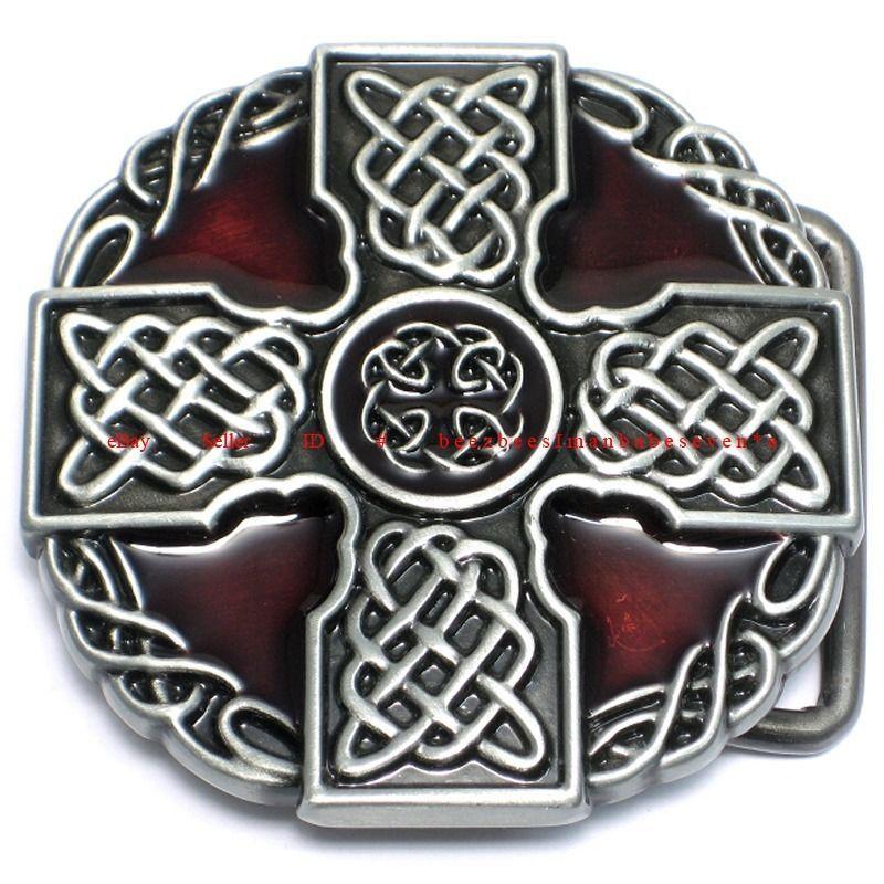 SBU1817 IRISH CELTIC KNOT CROSS SHIELD ARMBAND TATTOO
