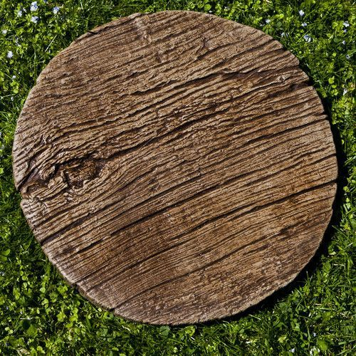 Faux Bois Stepping Stone สวน และ ตกแต งภายใน