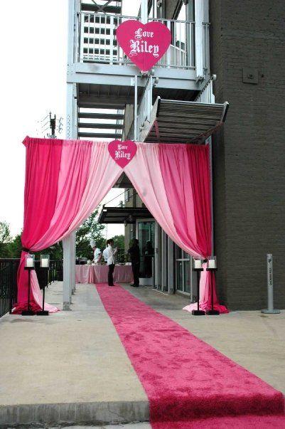 Bat Mitzvah Entry Carpet Themed Events Decor Dallas Tx