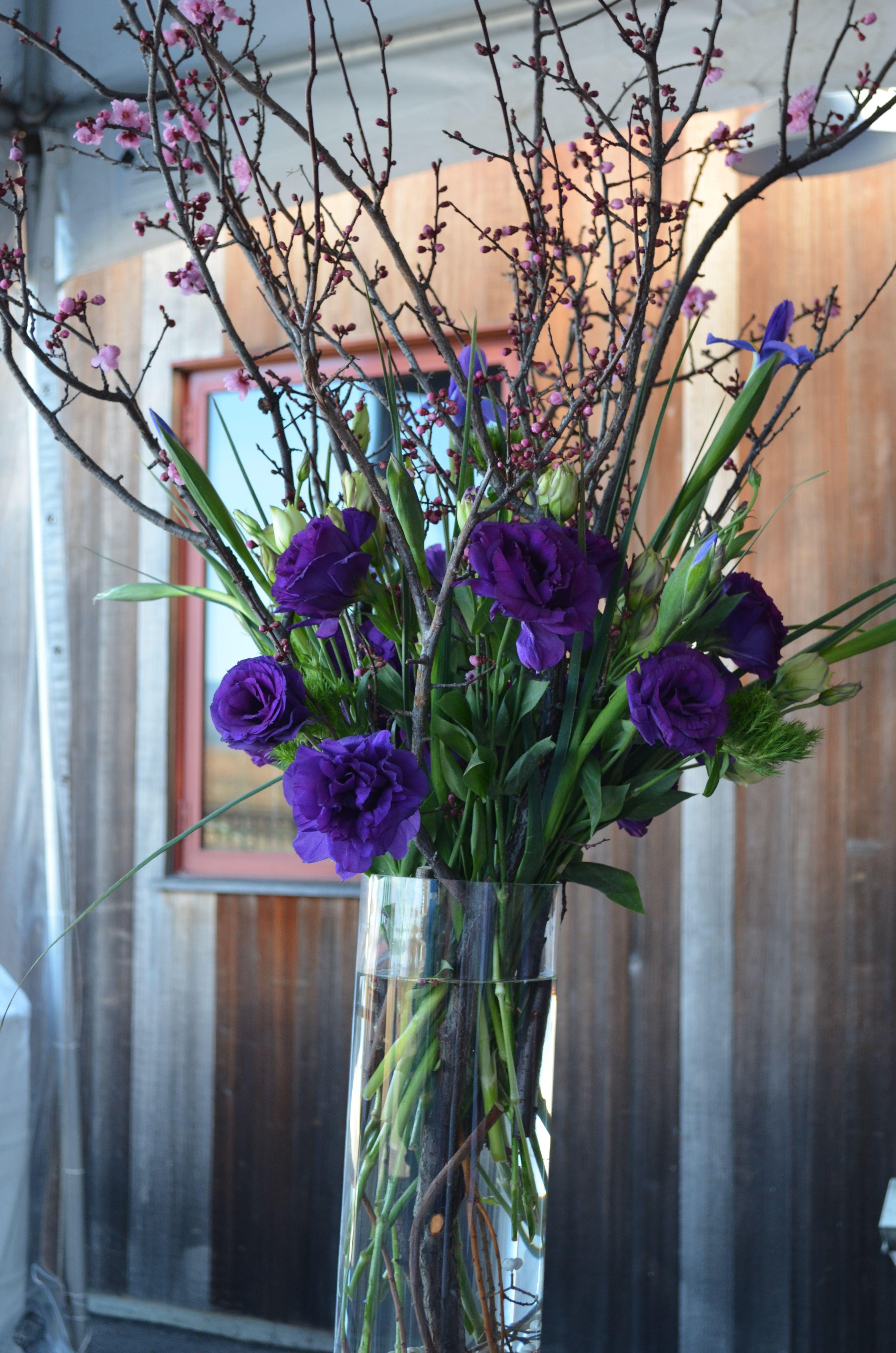 Pretty Purple Arrangement Tall Flower Arrangements Small Flower