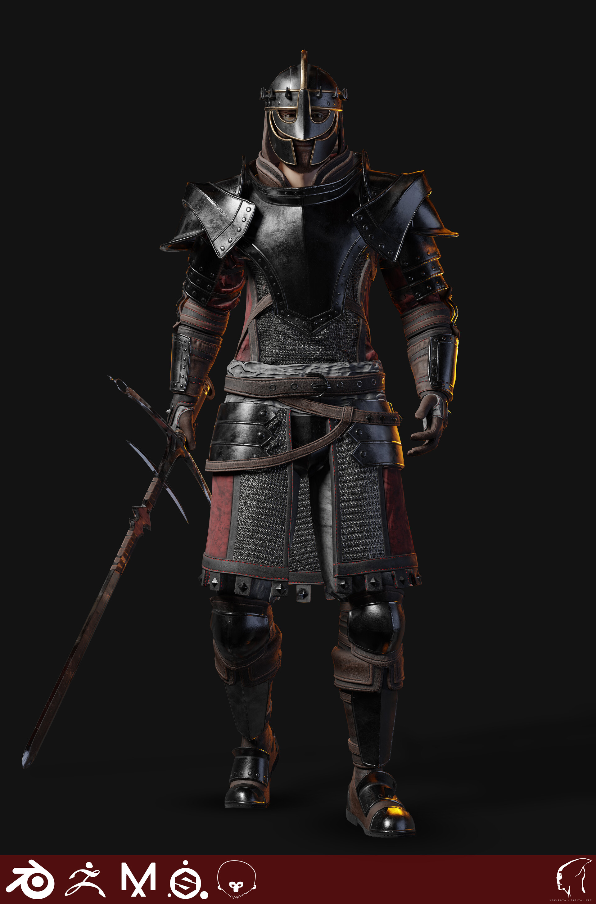 ArtStation - Knight - Realtime/Game ready character, Michał