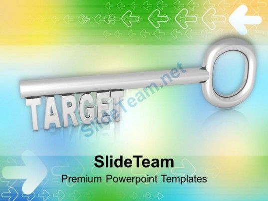 0313 Key To Target Business Achievement PowerPoint Templates PPT - achievement templates