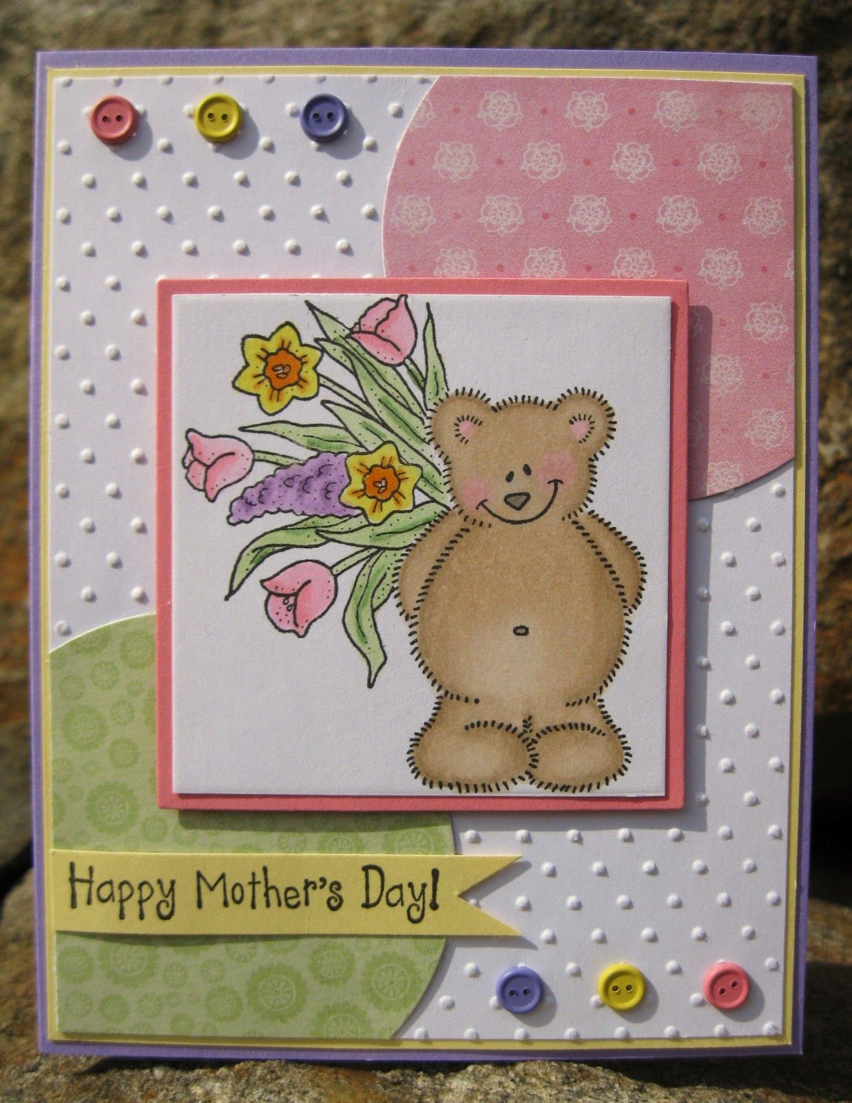 Ahh how cute is this this adorable handmade motherus day card