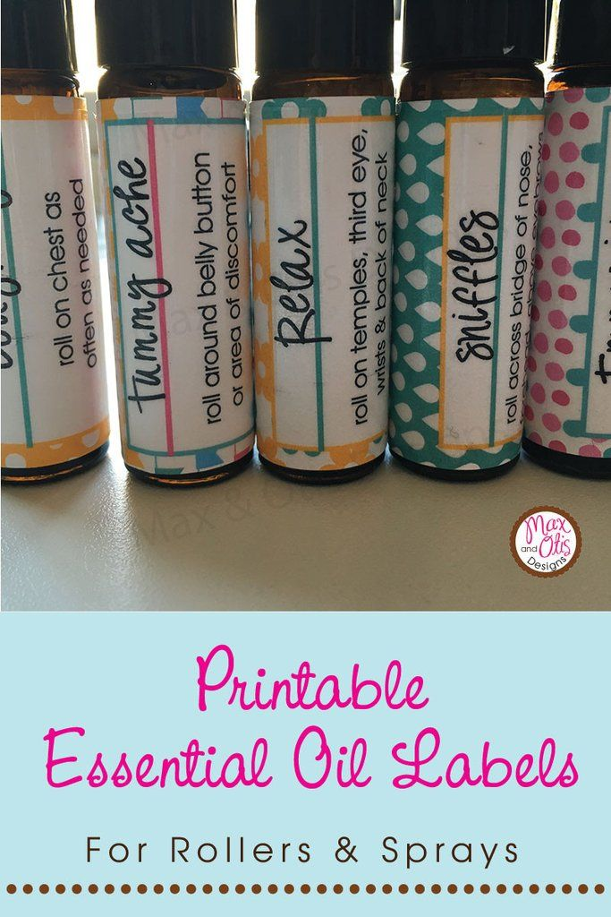 PRINTED YOUNG LIVING Essential Oil Roller Bottle Labels Young Living Label Essential Oil label Diy Essential Oil Gift