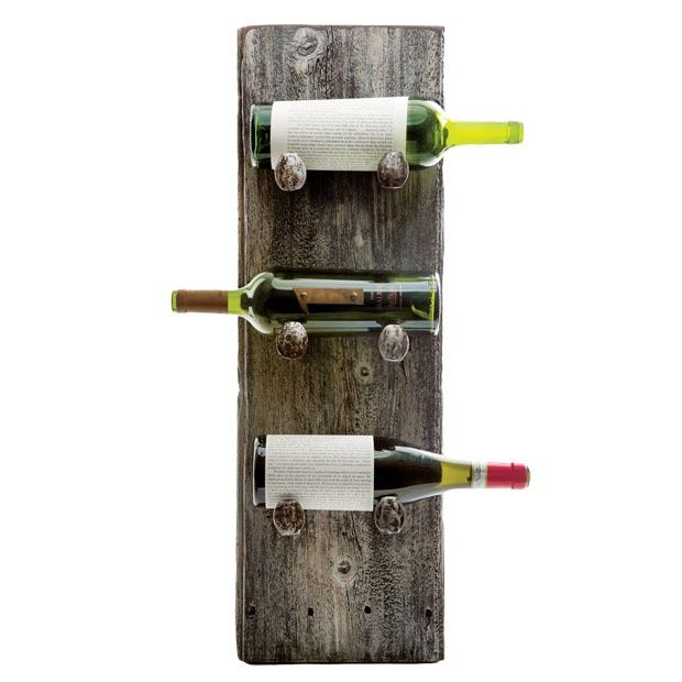 This Rustic Chic Wine Rack Is Crafted From Ohio Barn Wood And Railroad Spikes