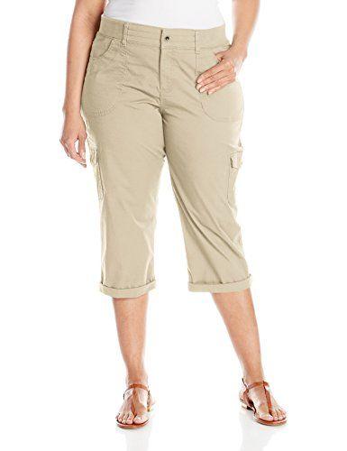 43fa03ecffcd8 Lee Women s Plus-Size Relaxed Fit Austyn Knit Waist Capri