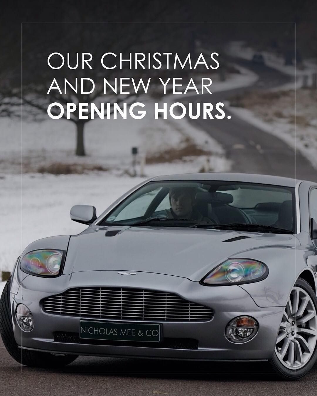 Christmas And New Year Opening Hours 22nd December 08 00 17 00 23rd December 1st January Closed 2d Aston Martin Cars For Sale Christmas And New Year