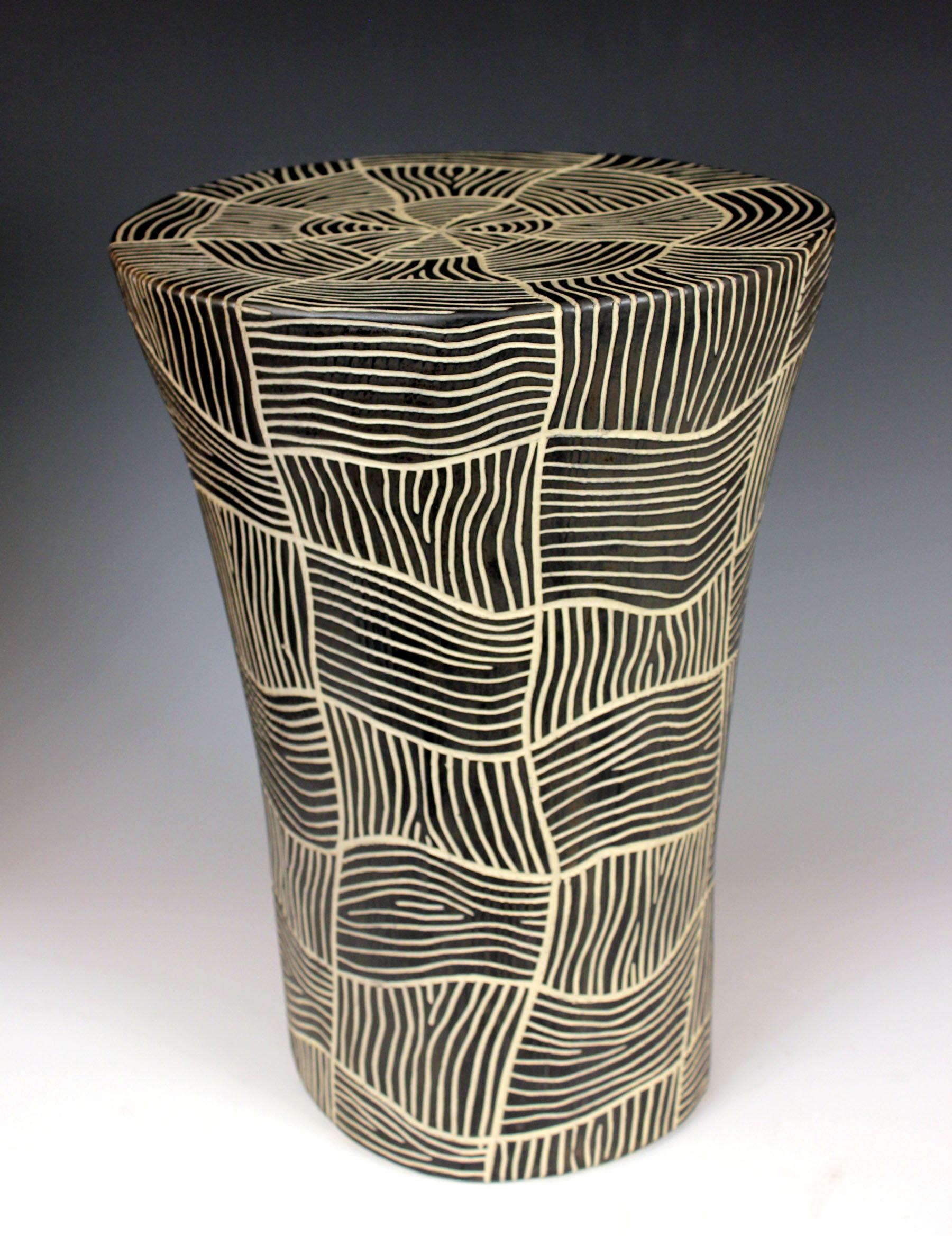 Woven Round Table by Larry Halvorsen. Hand-built stoneware end table on names of vases, wooden vases, kitchen vases, bulk mini vases, colored vases, vintage vases, bowl vases, handmade vases, traditional vases, engraved vases, sticks painted vases, yellow vases, big vases, carved vases, frost vases, mirror vases, art vases, engravable vases, decorative vases, gold vases,