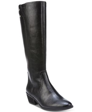 Dr. Scholl's Brilliance Wide-Calf Tall Boots - Black 8M
