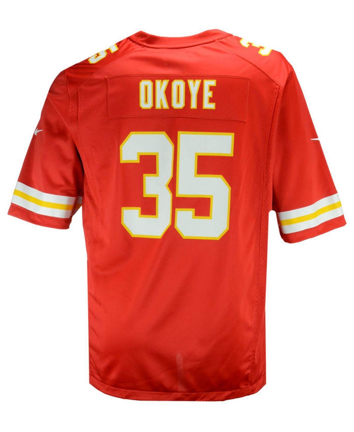 Nike Men's Christian Okoye Kansas City Chiefs Retired Game Jersey ...