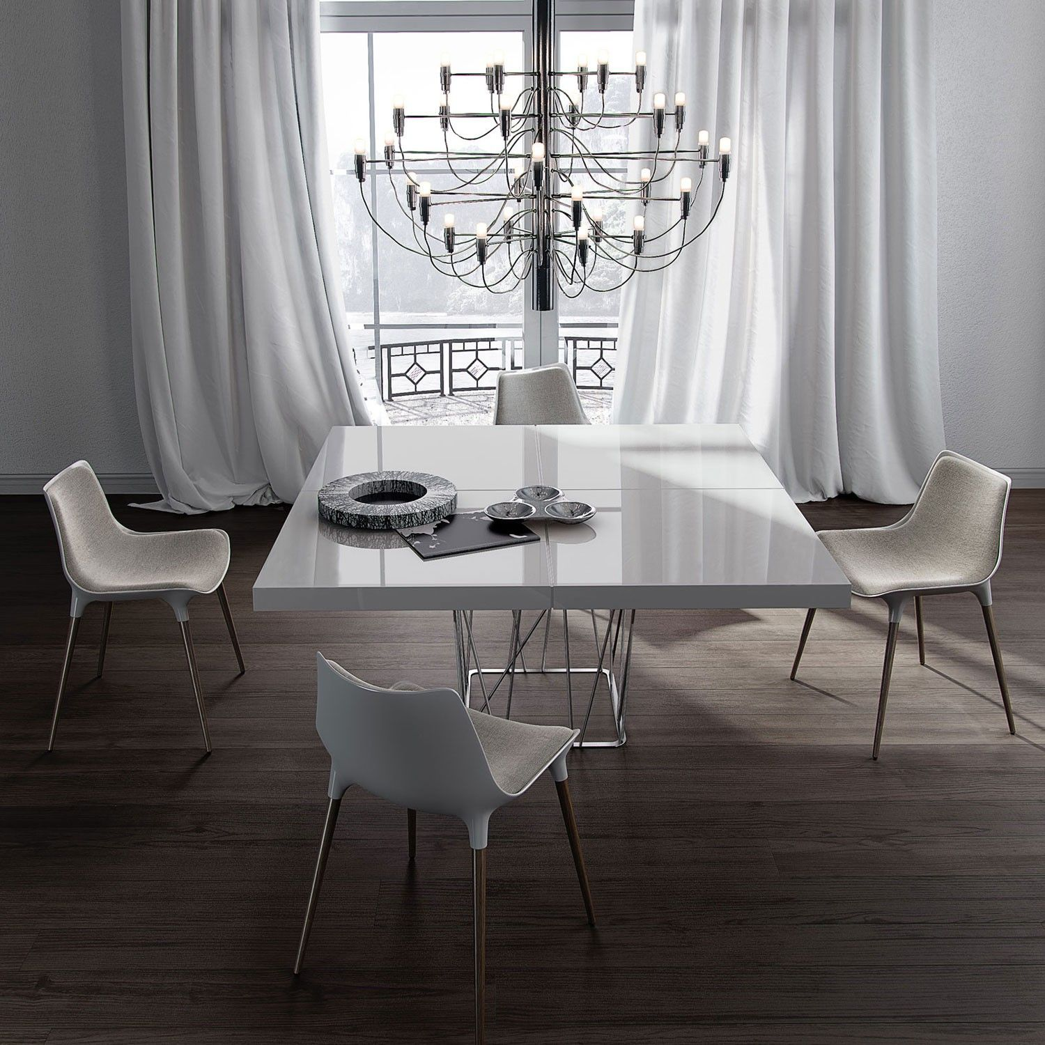 Langham Dining Room Shown With Langham Dining Chair And Mod 2097 Chandelier  Dining
