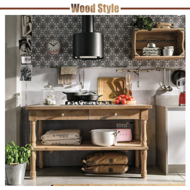 WOOD STYLE   cucina   stosa   made in italy   legno   mensola ...