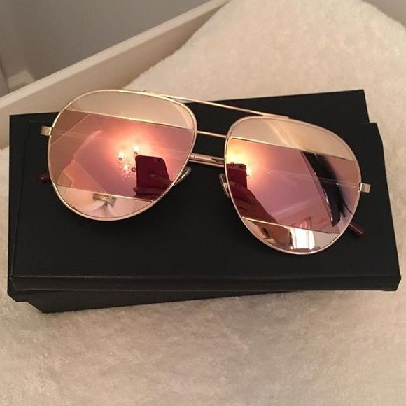0a357991881 Dior split 1 Pink and rose gold brand new in box Accessories Sunglasses