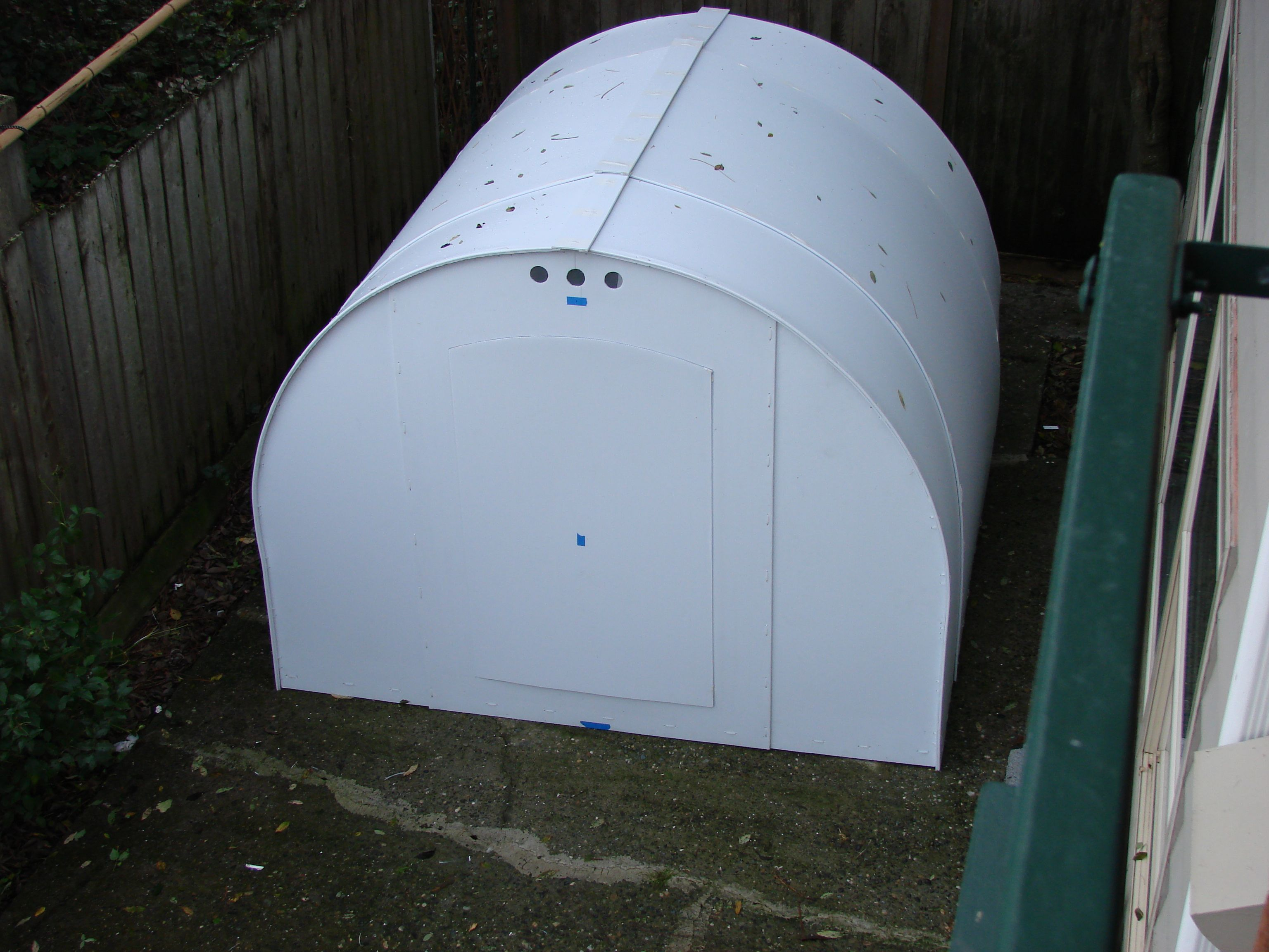 Large Coroplast Shelter For The Homeless Tiny Mobile House Shelter Recycled Crafts
