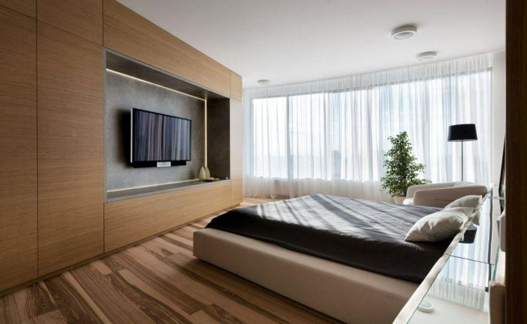 farbe-gruen-schlafzimmer-neutral-farben-wohnwand--laminat - welche farben f rs schlafzimmer
