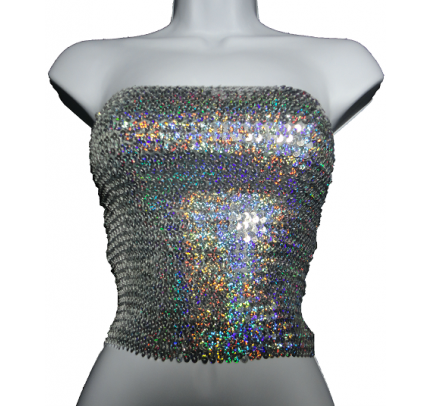 df0f265f161b15 Iridescent Silver Sequin Tube Top - Sequin Tops on Sale   Things to ...