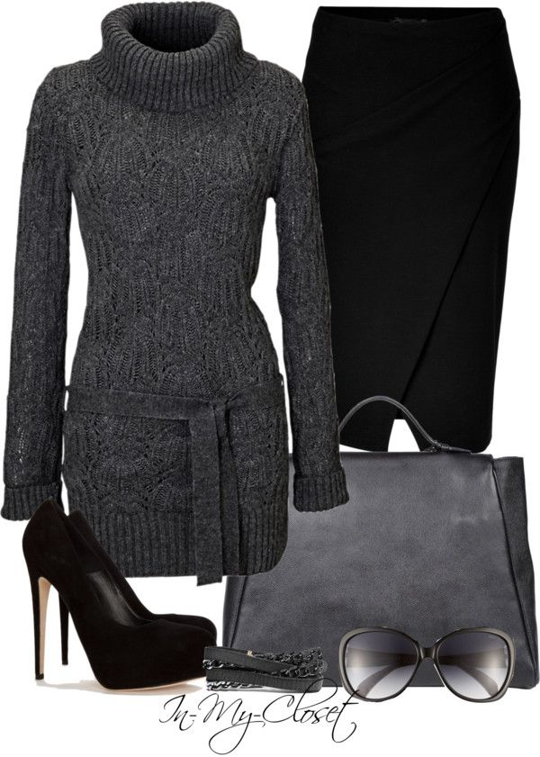 """""""For The Office - #12"""" by in-my-closet on Polyvore -- Great style to do a """"High/Low Project"""" on!"""