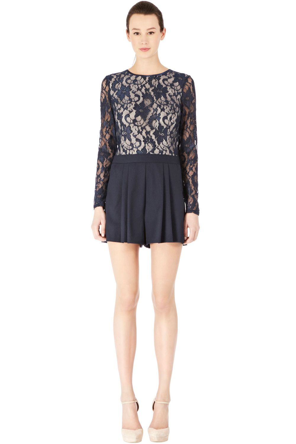Warehouse LACE TOP ROMPER