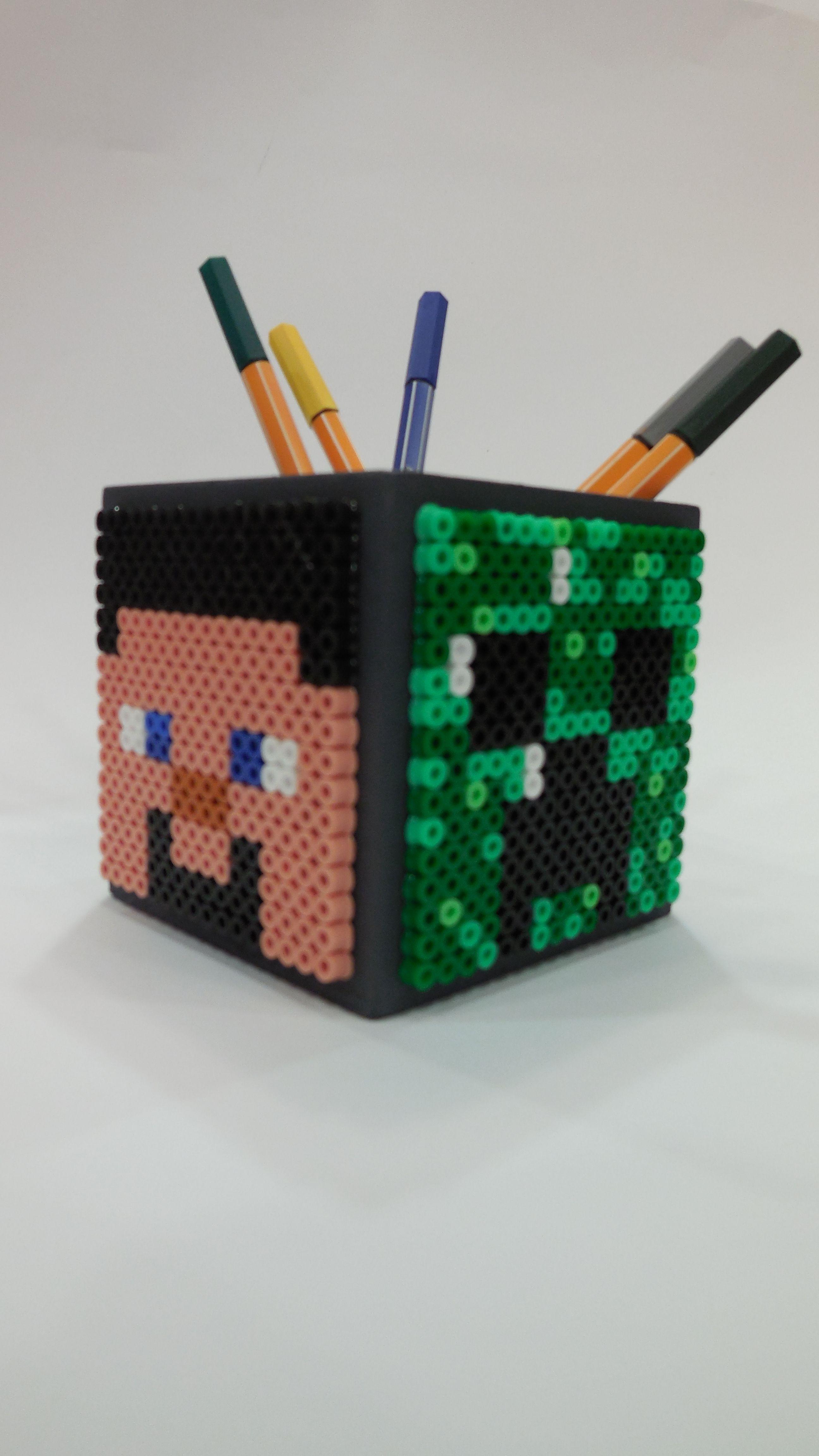 Pot crayon minecraft nathan pinterest porte for Housse repasser
