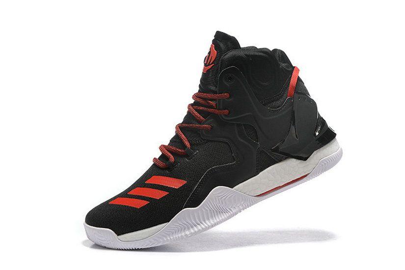 half off 5af4e cd45d Adidas D Rose 7 Vii Core Black Solar Red New Arrival Sneaker