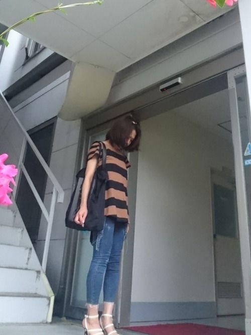 また、自撮りできそうな台見つけたので😍👍 撮りました☆ 外撮りは恥ずかしいけど、台が見かけると、