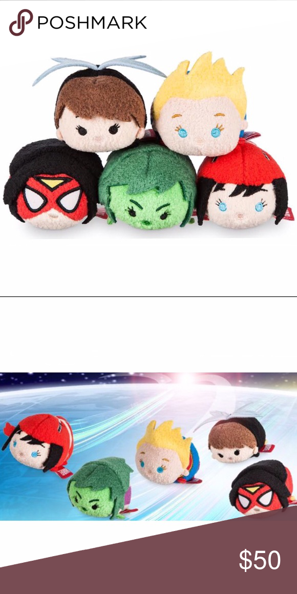 NEW~ Marvel Women of Power Tsum Tsum Set DISNEY TSUM TSUM Marvel Women Of Power  Mini Plush Set Condition: New with tags Product Detail: Marvel's mightiest  ...