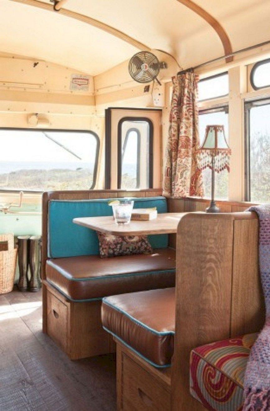 30+ Adorable Low Budget Rv Hacks Makeover Remodel Table