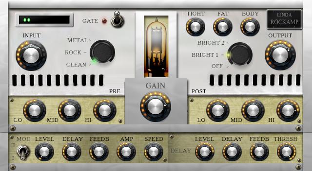Linda Audio has released Rock Amp, free VST2/3 plugin