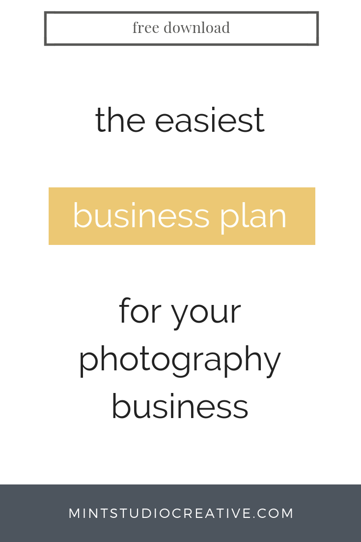 financial plan for photography business