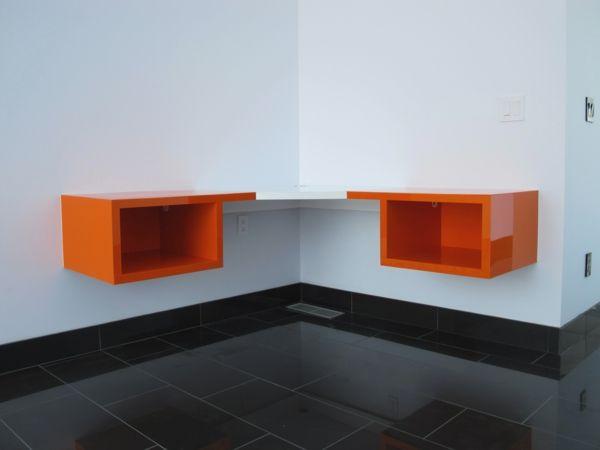 designs uniques de bureau suspendu bureaux et orange. Black Bedroom Furniture Sets. Home Design Ideas