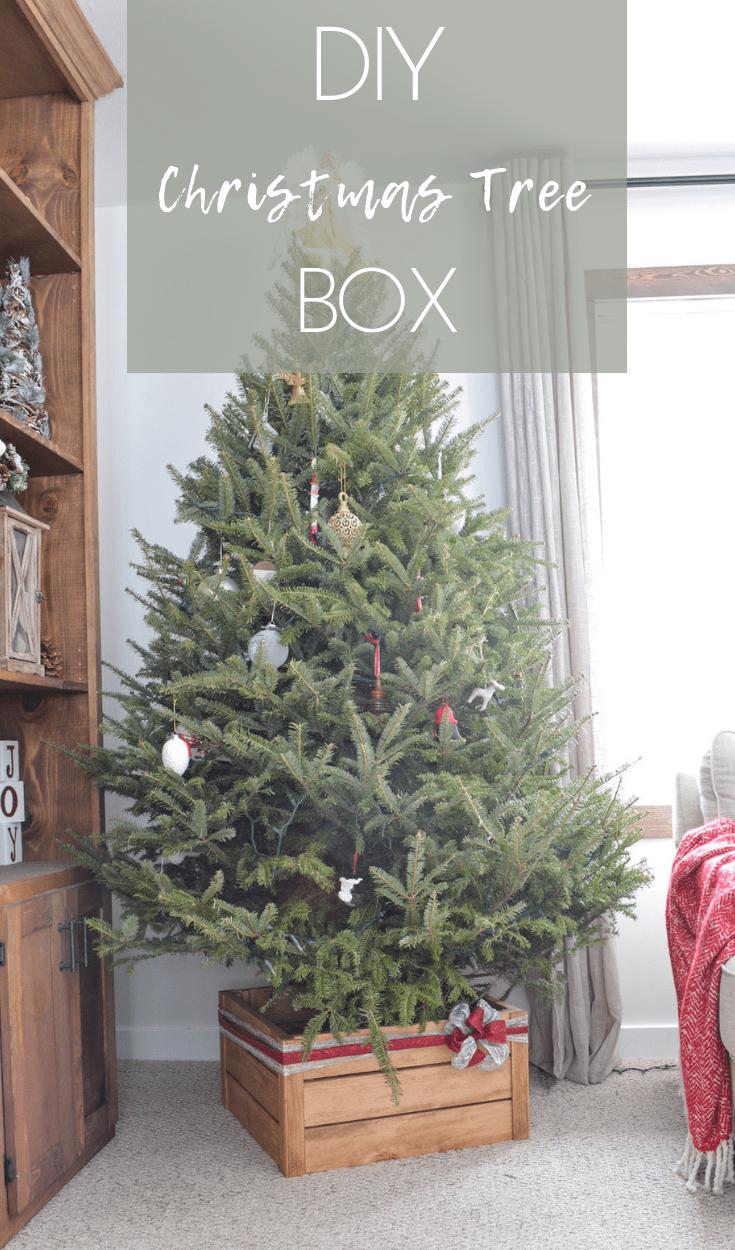 Diy Christmas Tree Stand Christmas Tree Box Diy Christmas Tree Homemade Christmas Tree