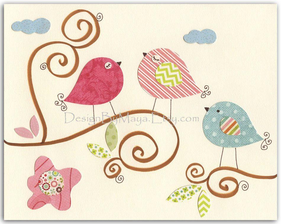 baby girl room decor nursery art baby owl birdpastel - Etsy Baby Room