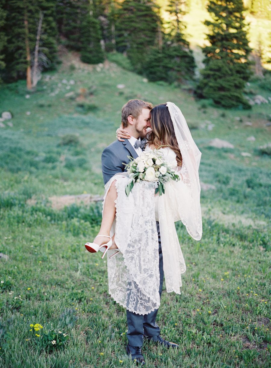 An incredible mountain wedding with guests pinterest wedding