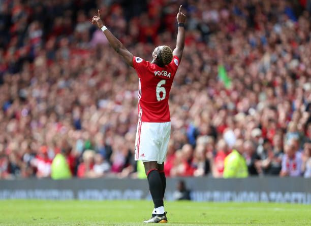 Paul Pogba Of Manchester United Celebrates After Scoring A Goal To Make It 20 Manchester United Players Manchester United Team David Beckham Manchester United