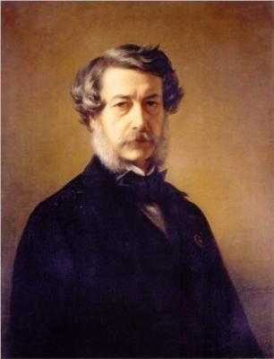 Franz Xaver Winterhalter (German: 1805-1873) -  Self Portrait