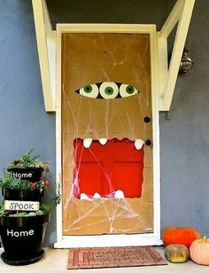 Puertas Halloween Puerta De Halloween Puertas Decoradas Para Halloween Cosas De Halloween