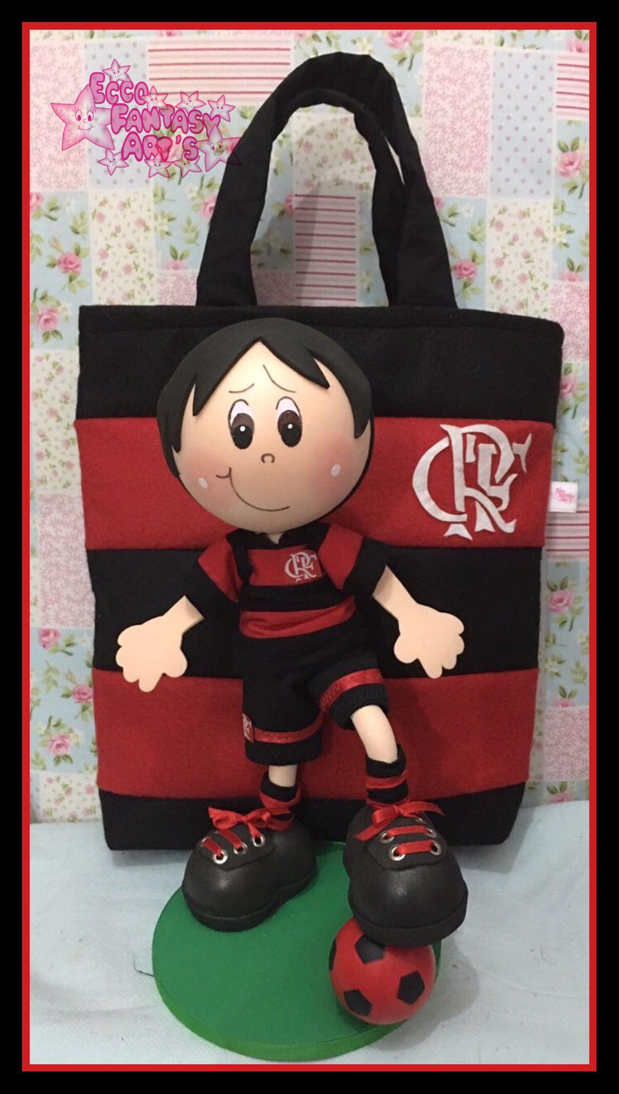 Beneco Flamenguista Torcedora Do Flamengo Bonecas Em Eva Flamenguista