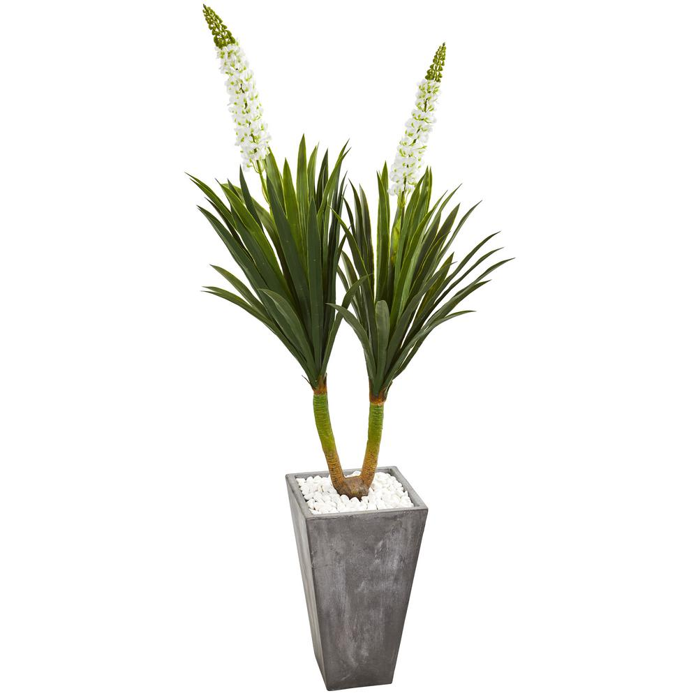 Indoor ft yucca artificial plant in cement planter products
