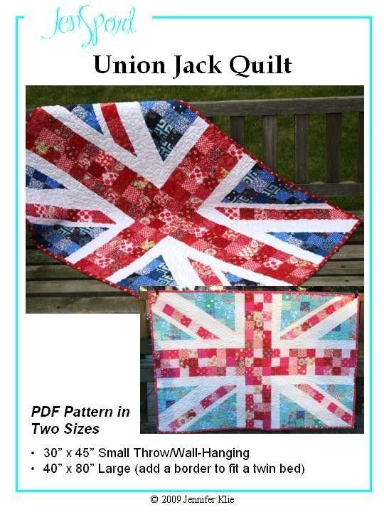 union jack quilt pdf pattern