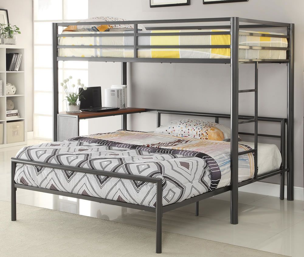 Queen loft bed ideas   Loft Bunk Beds Twin Over Queen  Bedroom Interior Design Ideas