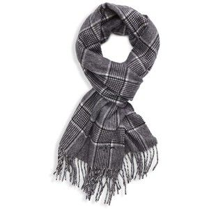 MINAKOLIFE Houndstooth Check Classic Cashmere Feel Mens Winter Scarf