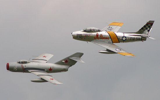 Mig 15 & F 86 Sabre